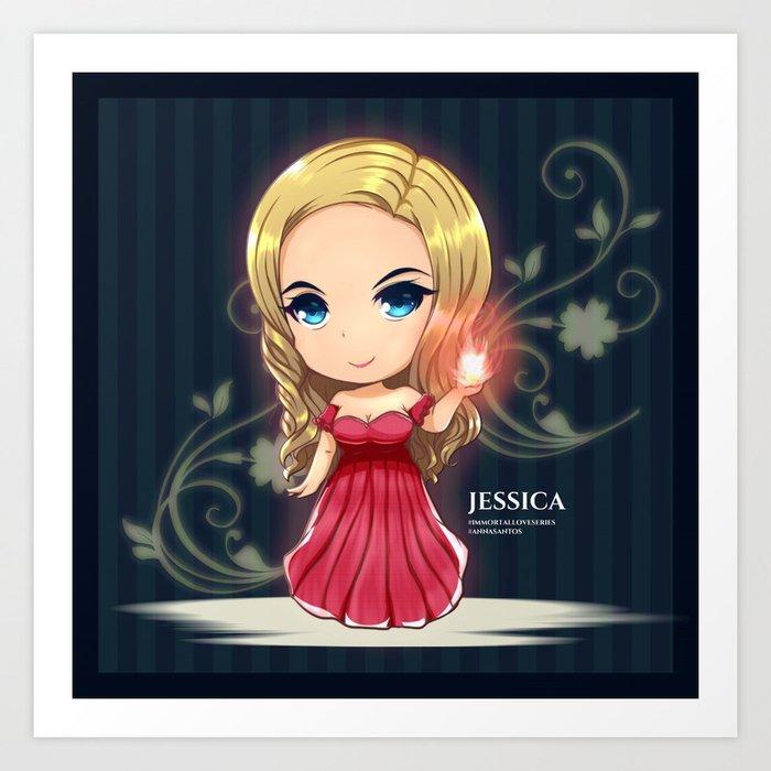 Jessica from Immortal Love Art Print