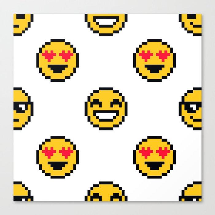 Pixel Emoji Canvas Print By Erriinnns