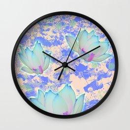 Flower Blue  Wall Clock