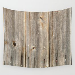 Old Rustic Wood Texture Wall Tapestry