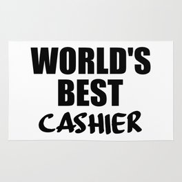 worlds best cashier Rug