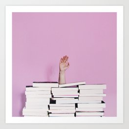 There's no such thing as too many books! Art Print