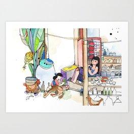 Family buisness Art Print