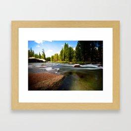 Rocks In The Stream Framed Art Print