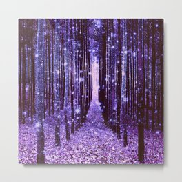 Magical Forest Purple Metal Print