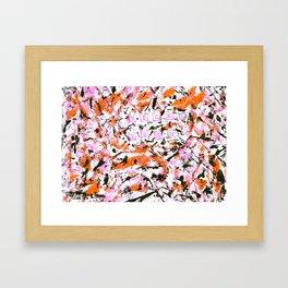 graffiti pink 0 Framed Art Print