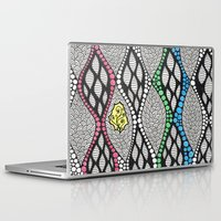 tapestry Laptop & iPad Skins featuring tapestry by Anouki Art