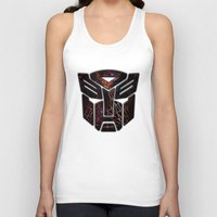 transformers Tank Tops featuring Autobots Abstractness - Transformers by DesignLawrence