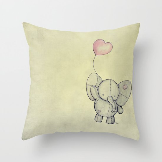 Cute Throw Pillow Society6 : Cute Elephant II Throw Pillow by Mike Koubou Society6