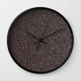 Glittery Midnight Wall Clock