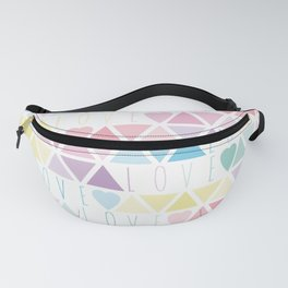 Valentine's Day - Love triangle Fanny Pack