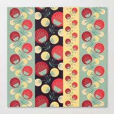 50's floral pattern Canvas Print