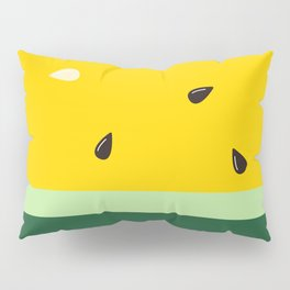 Watermelon in Yellow | Watermelon Seed | Watermelon Home Decor | pulps of wood Pillow Sham
