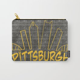 Pittsburgh Skyline on Steel Carry-All Pouch