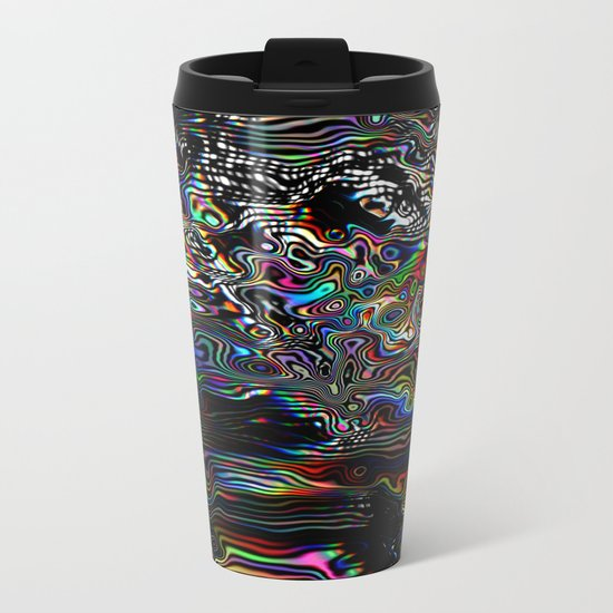 Abstract Spectral Blur Metal Travel Mug