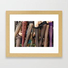 Mannequin Legs Framed Art Print