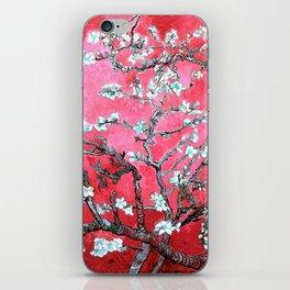 Van Gogh Almond Blossoms : Reddish Pink & Light Blue iPhone Skin