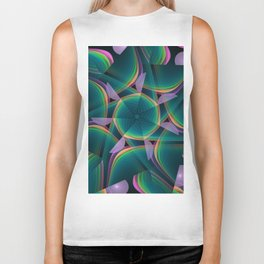 Tumbling patterns, fractal abstract art Biker Tank