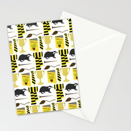 The House of Hufflepuff Pattern Stationery Cards