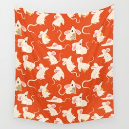 Happy mice pattern Wall Tapestry