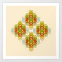 60's Pattern Art Print