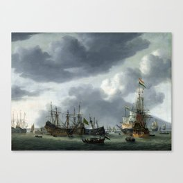 Reinier Nooms Amsterdam Harbor Scene Canvas Print