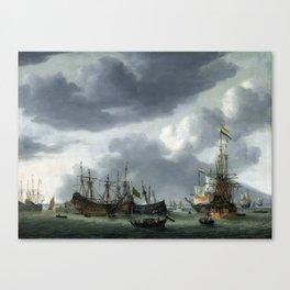 Reinier Nooms Amsterdam Harbor Scene Canvas Print