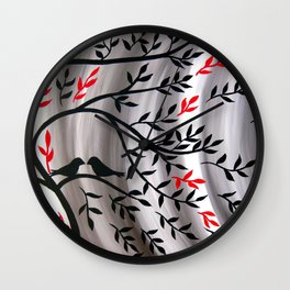 Weathering The Storm Together Wall Clock