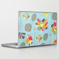 lotus flower Laptop & iPad Skins featuring Lotus by Ferntree Studio