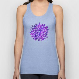 Violet and pink agate Unisex Tank Top