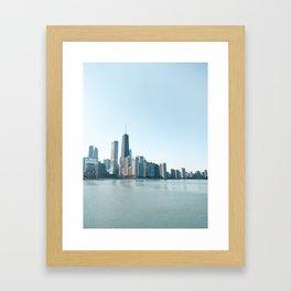 Chicago Skyline Over Lake Michigan Framed Art Print
