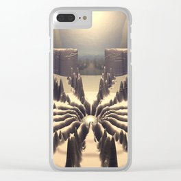 Pathway of Peaks Clear iPhone Case