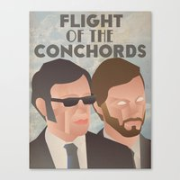 flight of the conchords Canvas Prints featuring Flight of the Conchords by Jake Jones