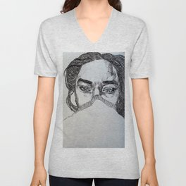Sleepy Eyes Unisex V-Neck