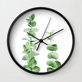 Eucalyptus leaves. Wall Clock