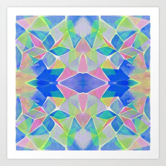 Chroma Blue Art Print
