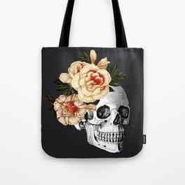Dia De Los Muertos Black Linen Tote Bag