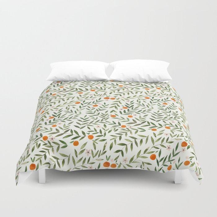 Oranges Foliage Bettbezug