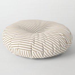 Iced Coffee Stripe Floor Pillow