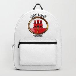 Gibraltar Proud Flag Button Backpack