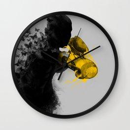 float like butterflies, sting like a bee Wall Clock