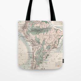 Vintage Map of South America (1858) Tote Bag
