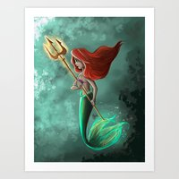 ariel Art Prints featuring Ariel by Laia™