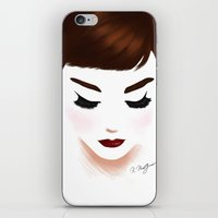 audrey iPhone & iPod Skins featuring audrey by Kathryn M.