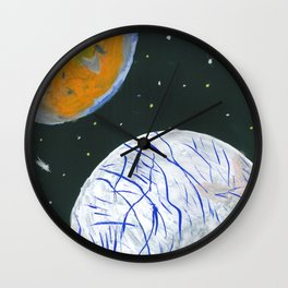 Europa and Io Wall Clock