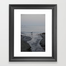 It all leads to the ocean.  Framed Art Print