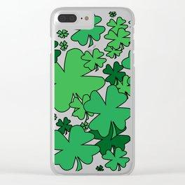 Clover Confetti Clear iPhone Case
