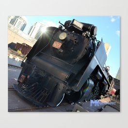 The Black Train Canvas Print