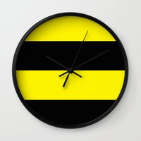 hufflepuff Wall Clocks featuring Hufflepuff by Yajaira Gomez