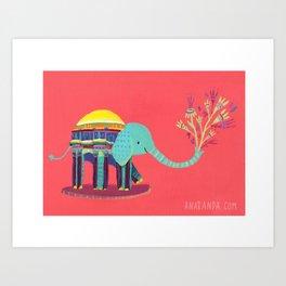 Palace of Fine Arts Elephant Art Print